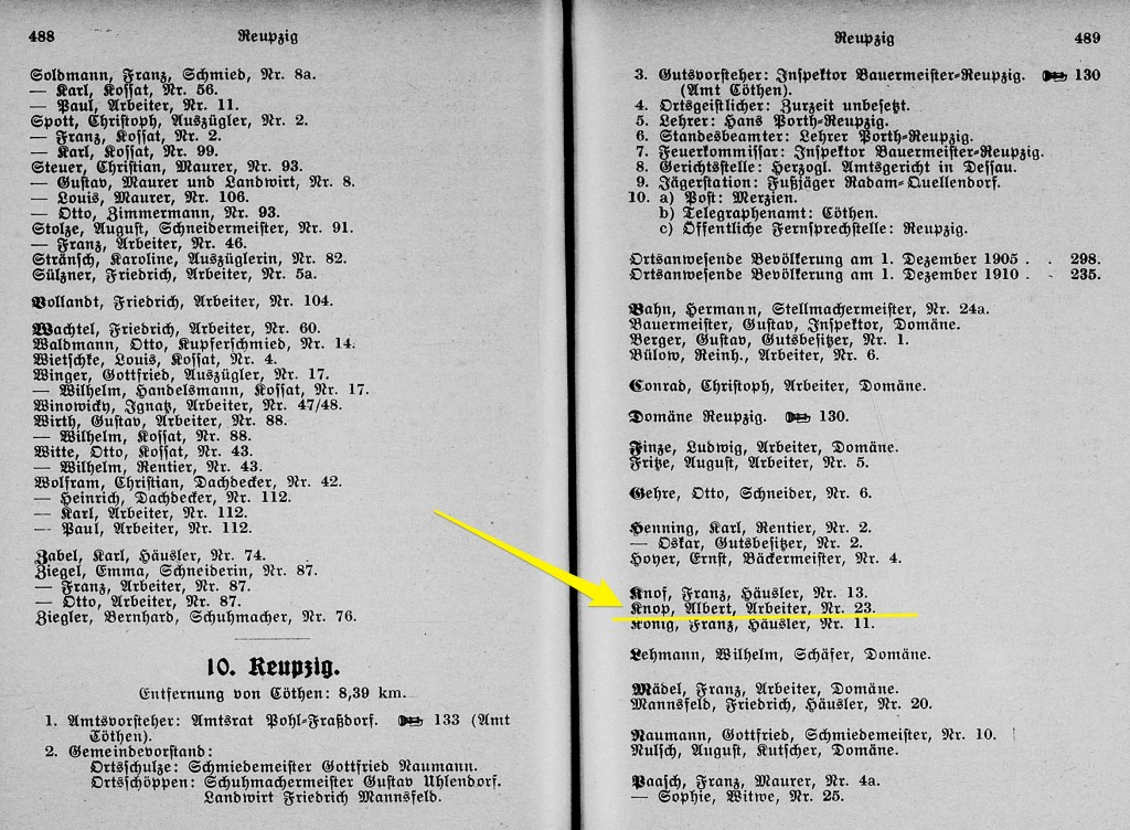 Kothen City Directory 1912-1913